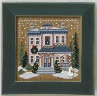 2006 Christmas Village Button & Bead - Victorian House