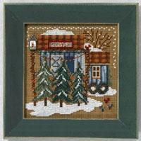 2006 Christmas Village Button & Bead-Tree Farm - Christmas Village