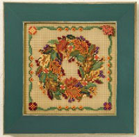 2007 Autumn Button & Bead-Autumn Wreath