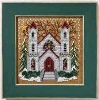 2007 Christmas Village Button & Bead - St. Nicholas Cathedral