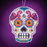 Calavera Charmed Ornament - Morado