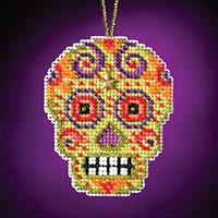 Calavera Charmed Ornament - Verde