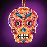 Calavera Charmed Ornament - Naranja
