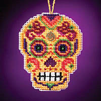 Calavera Charmed Ornament - Amarillo