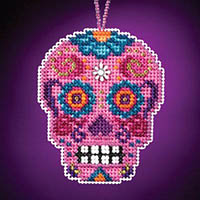 Calavera Charmed Ornament - Rosa
