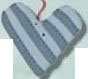 nh1006 Striped Heart - Just Another Button Co
