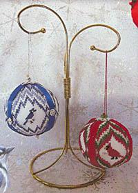 Christmas Balls #4- Blue Jays & Cardinals