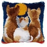 Cats At Night Pillow