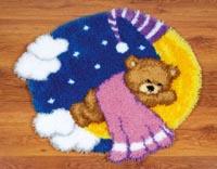 Teddy on the Moon Rug