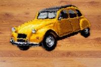 Vintage Yellow Car Rug