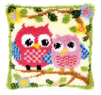 Owls on a Branch Pillow
