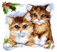 Snow Cats Pillow