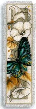 Butterfly on Flowers IV Bookmark Kit