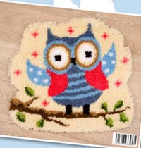 Owl Latch Hook Rug
