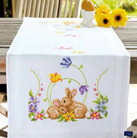 Rabbits Printed  Runner Kit