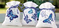 Blue Butterflies Potpourri Bags Kit