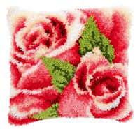 Pink Rose and Rosebud I Pillow