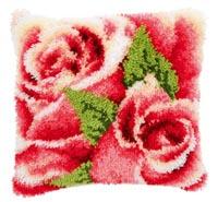 Pink Rose and Rosebud I Pillow