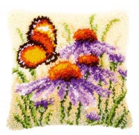 Enchinacea and Butterfly Pillow