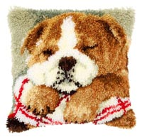 Sleeping Bulldog Pillow