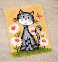 Cats and Flowers Rug
