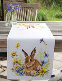 Hare in Flowers Runner Kit