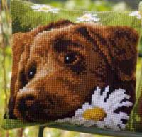Chocolate Labrador Cushion Kit