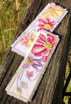 Colorful Flowers Bookmarks Kit
