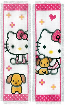 Hello Kitty & Dog Bookmarks Kit
