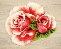 Pink Rose and Rosebud II Rug