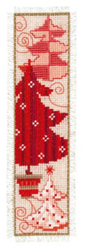 Red Christmas Trees Bookmark Kit