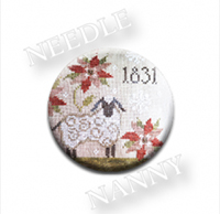 1831 Christmas Needle Needle Nanny by Plum Street Samplers