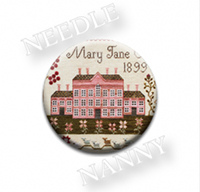 Pink House Needle Needle Nanny by Plum Street Samplers
