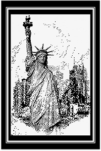 Pen & Ink - Lady Liberty