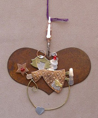 Thread Separator - Rustic Heart with Angel
