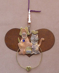 Thread Separator - Rustic Heart with Pets