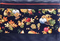 Fall Splendor on Black Project Bag