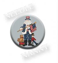 Patriotic Santa Needle Needle Nanny by Sue Hillis Designs