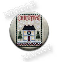 Christmas House Needle Nanny by Waxing Moon Designs