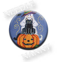 Ghost and Cat Needle Nanny by Waxing Moon Designs