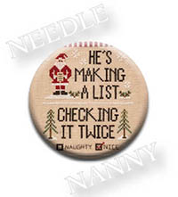 Santa's List Needle Nanny by Country Cottage Needlework