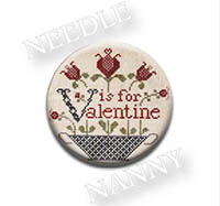 V is for Valentine Needle Nanny from Heartstring Samplery