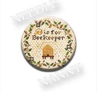 B is for Beekeeper Needle Nanny from Heartstring Samplery