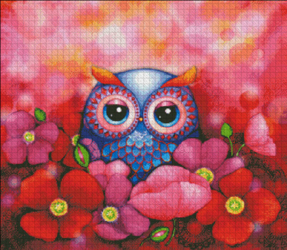 Owl in Poppy Field by Heaven and Earth designs