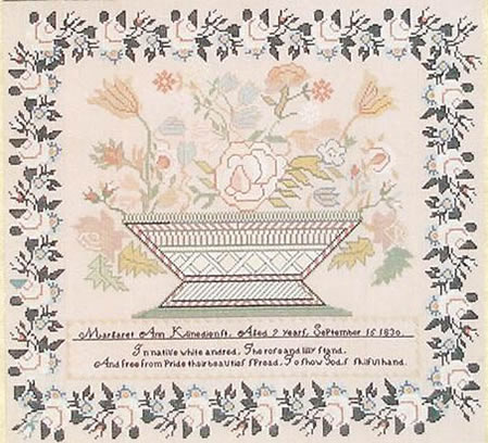Margaret Ann Klinedienst 1830 from Queenstown Sampler Designs